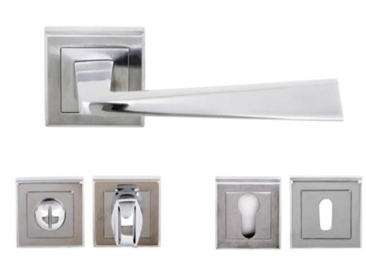 California Lever Handles and Accessories in Satin Chrome