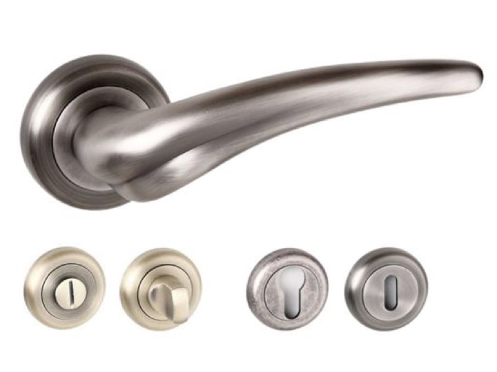 York Radius Edge Lever Handles and Accessories Matt Gun Metal
