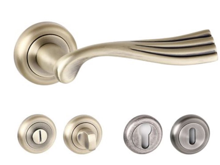 Richmond Radius Edge Lever Handles And Accessories Matt Antique Brass