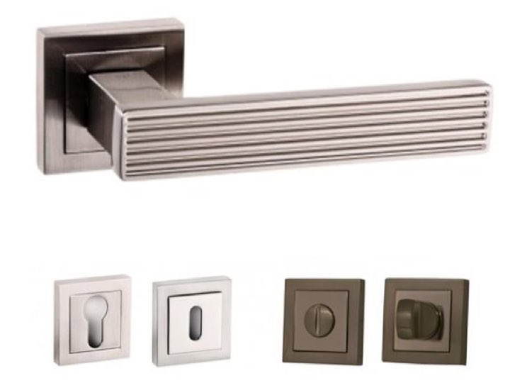 Dritto Lever Handles and Accessories in SN
