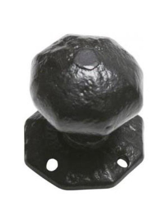 Kirkpatrick Antique Black Iron Door Knob Set 3056 57mm