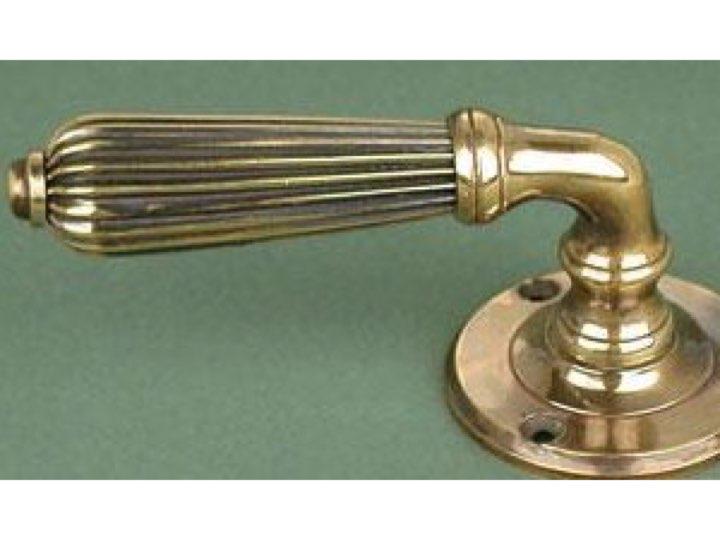 Regency Lever Handle Aged Brass