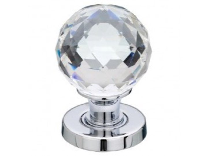Glass Faceted Door Knob