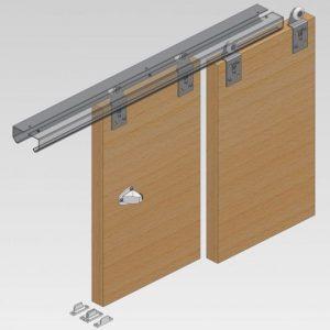 Twin 100 Wardrobe Door Gear