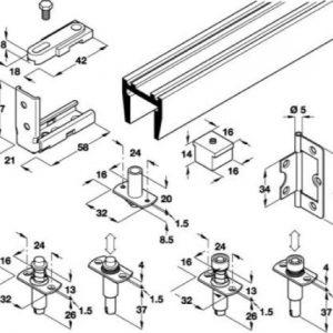 Twin-Fold Folding Door Gear