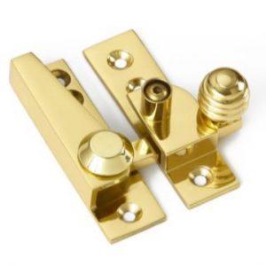 Croft Reeded Knob Sash Fastener - Locking