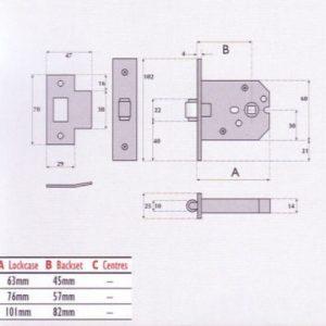 Roller Bolt Mortice Latch - G4052