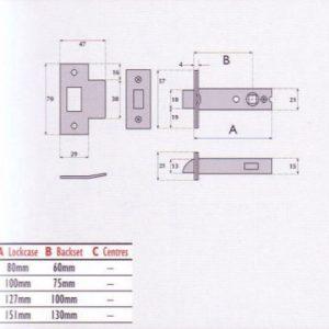 Heavy Duty Tubular Mortice Latch - G4060