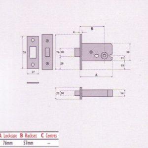 Compact Mortice Privacy Deadbolt - G8041