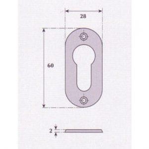 Euro Profile Escutcheon - G9511