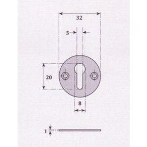 Keyhole Escutcheon - G9514