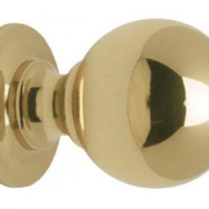 Solid Brass Round Cupboard Knob - 19mm