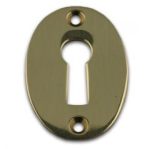 Stamped Brass Escutcheon Keyhole Cover Plate