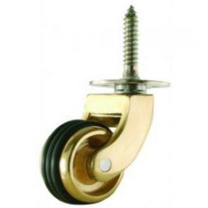 Screwplate Castor - Wide Rubber Tyre