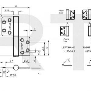 H133 Hi-Load Two Knuckle Lift-Off Hinge Left Hand