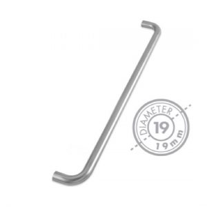 "600mm Bolt Through ""D"" Mitred Pull Handle (GRADE 304)"