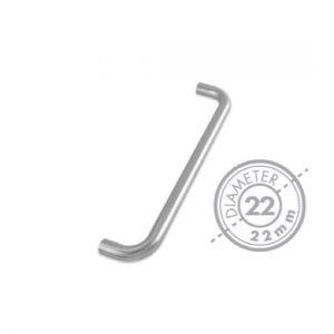 "300mm Bolt Through ""D"" Mitred Pull Handle (GRADE 304)(22mm Diameter)"