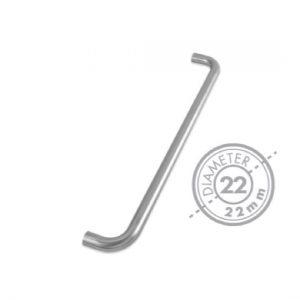 "425mm Bolt Through ""D"" Mitred Pull Handle (GRADE 304)(22mm Diameter)"