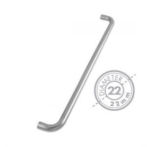 "600mm Bolt Through ""D"" Mitred Pull Handle (GRADE 304)(22mm Diameter)"