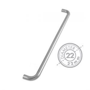 "600mm Bolt Through ""D"" Pull Handle (GRADE 201)(22mm Diameter)"
