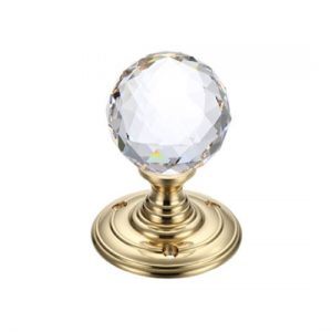Facetted Glass Ball Mortice Knob 55mm