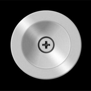 Stainless Steel Finger Pull For Pocket Door (Round)