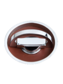 Turnstyle Round Revolving Flush Pull Leather Combination