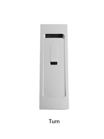 Turnstyle Rectangle Flush Door Pull (With Turn)