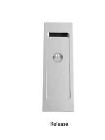 Turnstyle Rectangle Flush Door Pull (With Release)