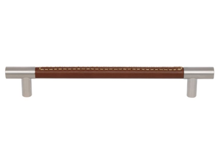 Turnstyle 160mm Barrel Recess Leather Stitch-Out Cabinet Handle