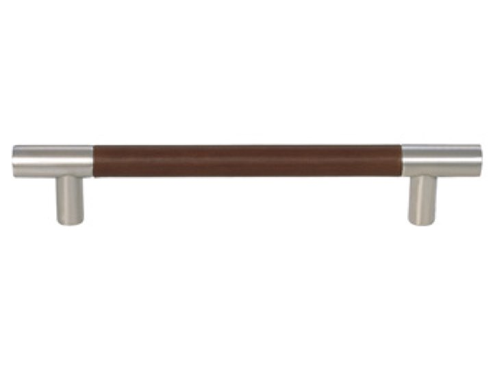 Turnstyle 128mm Barrel Recess Leather Stitch-In Cabinet Handle
