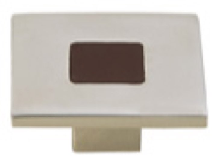 Turnstyle Recess Leather Stitch-In Square Cabinet Knob