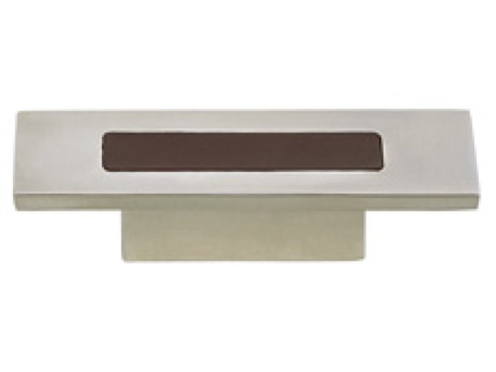Turnstyle Recess Leather Stitch-In Rectangular Cabinet Knob