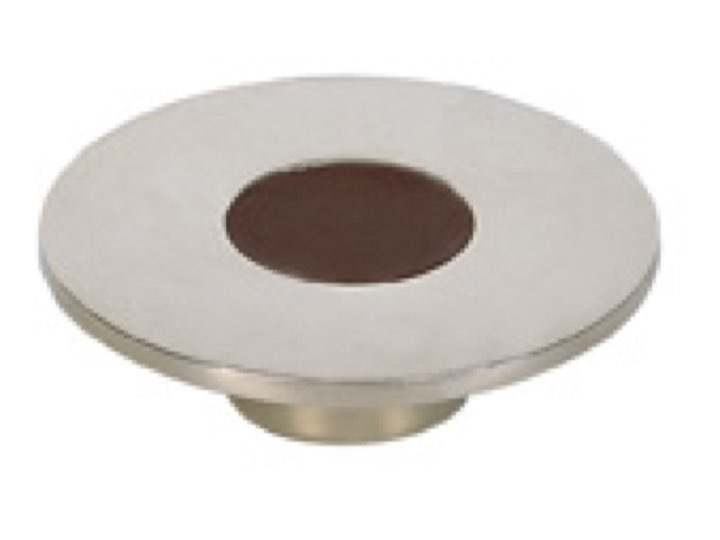 Turnstyle Recess Leather Stitch-In Large Circle Cabinet Knob