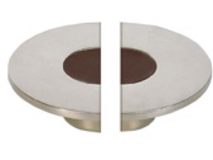 Turnstyle Recess Leather Stitch In Large Semi Circle Cabinet Knob