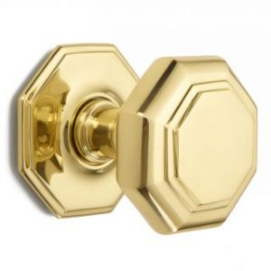 Croft Flat Octagonal Centre Door Knob