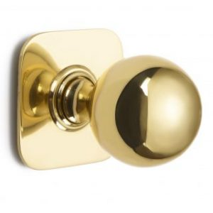 Croft Ball Centre Door Knob On Square Rose