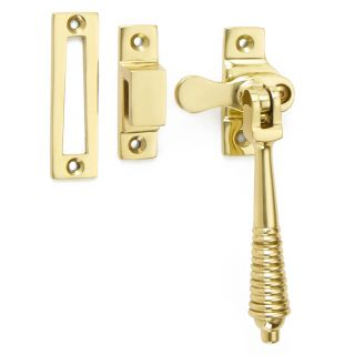 Croft Lockable Reeded Casement Fastener With Hook Plate