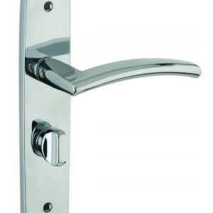 Amalfi Lever Bathroom on Backplate