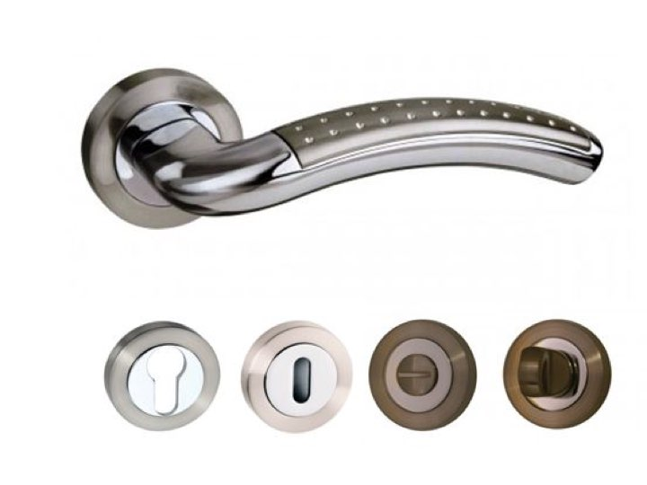 Monaco Lever Handles and Accessories SN/CP
