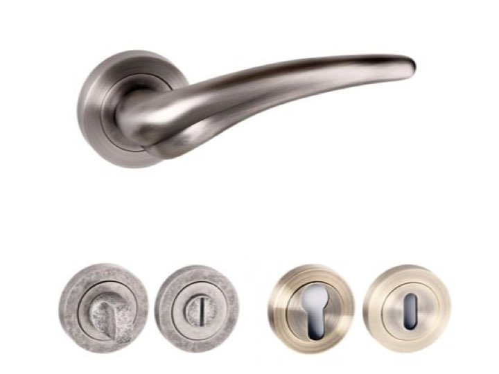 York Square Edge Lever Handles and Accessories Matt Gun Metal