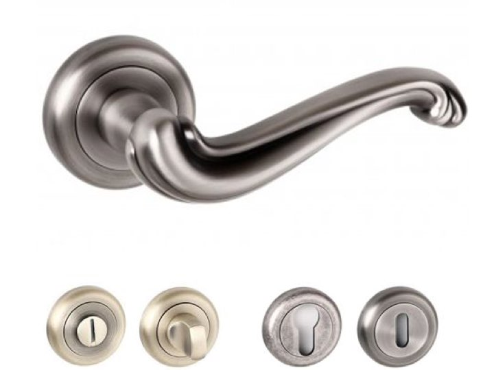 Colchester Radius Edge Lever Handles and Accessories Matt Gun Metal