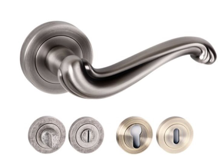 Colchester Square Edge Lever Handles and Accessories Matt Gun Metal
