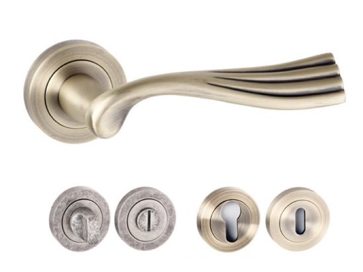 Richmond Square Edge Lever Handles and Accessories Matt Antique Brass