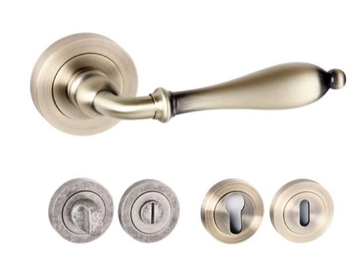 Wrexham Square Edge Lever Handles And Accessories Matt Antique Brass