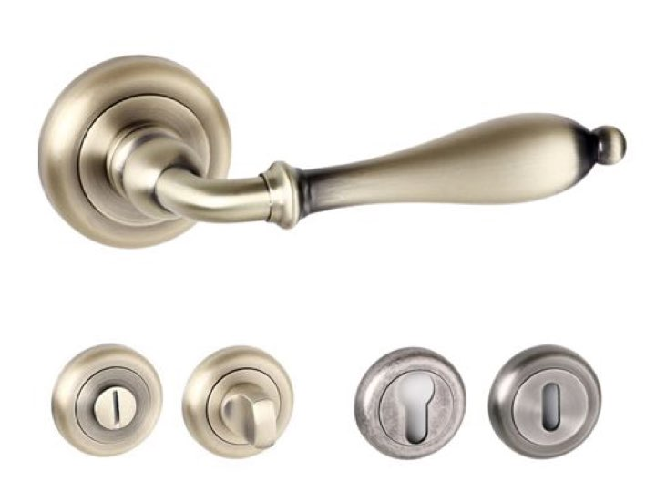 Wrexham Radius Edge Lever Handles And Accessories Matt Antique Brass