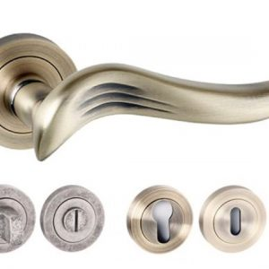 Oxford Square Edge Lever Handles And Accessories Matt Antique Brass