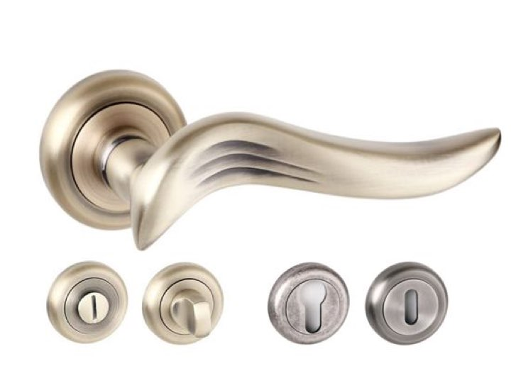 Oxford Radius Edge Lever Handles And Accessories Matt Antique Brass
