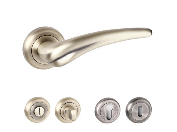 York Radius Edge Lever Handles and Accessories Matt Antique Brass