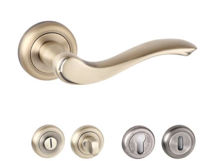Warwick Radius Edge Lever Handles and Accessories Matt Antique Brass